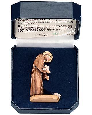 Heiliger Franziskus von Assisi für unterwegs im Etui