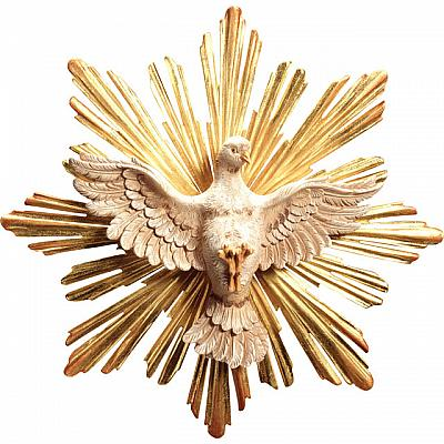 Heiliger Geist mit Schein, Holz