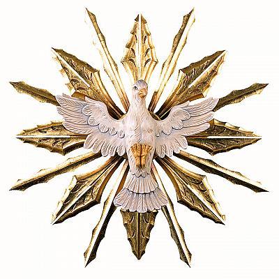 Heiliger Geist mit Strahlen II, Holz