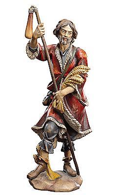 Heiliger Isidor mit Korndresche, Holz