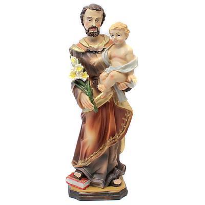 Heiliger Josef mit Lilie und Jesus