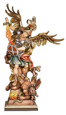 Heiliger Michael mit Flammenschwert, Holz