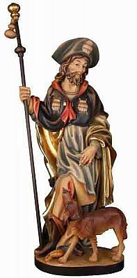 Heiliger Rochus mit Hund, Holz
