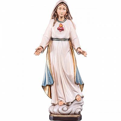 Herz Maria auf Wolke mit Umhang, Holz