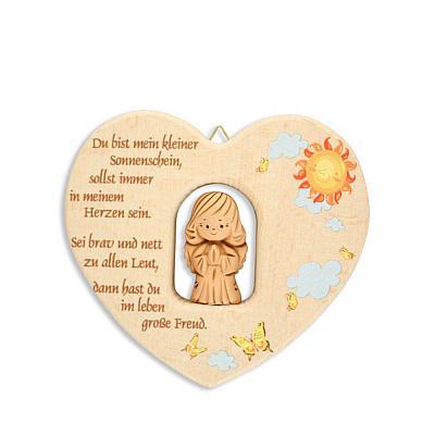 Herz mit Tonengel, betend 'Du bist mein klein'