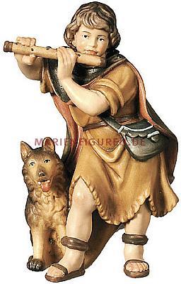 Hirtenjunge mit Flöte und Hund (Betlehem Krippe)