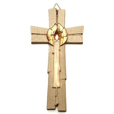 Hochzeitskreuz 'Licht des Glaubens', Holz