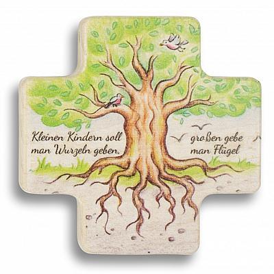 Kreuz zum hängen oder als Kette 'Lebensbaum' (Lebensbaum, Kreuz gleichschenklig)