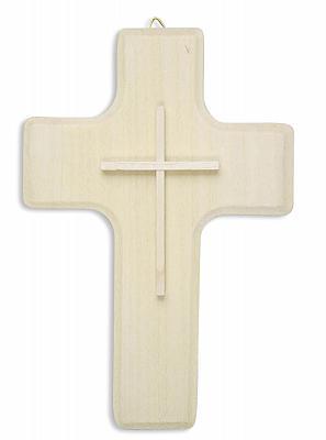 Holzkreuz schlicht aus Linde, natur (Natur)