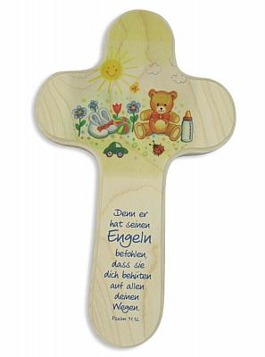 Holzkreuz Teddy auf Wiese