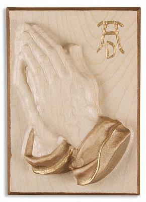 Holztafelrelief Betende Hände nach Dürer aus Holz