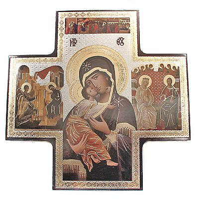 Ikonenkreuz Madonna, 15 cm