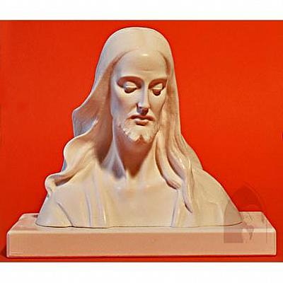 Jesusbüste, Alabaster 13 cm