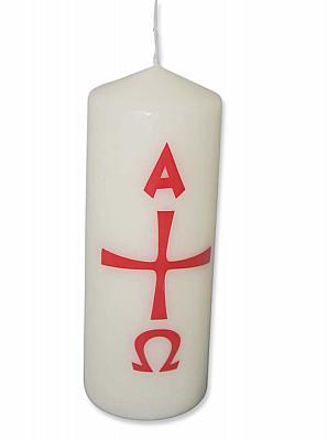 Kerze Alpha und Omega