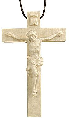Kette mit geschnitztem Kruzifix (original Salcher) (4 cm, Höhe)