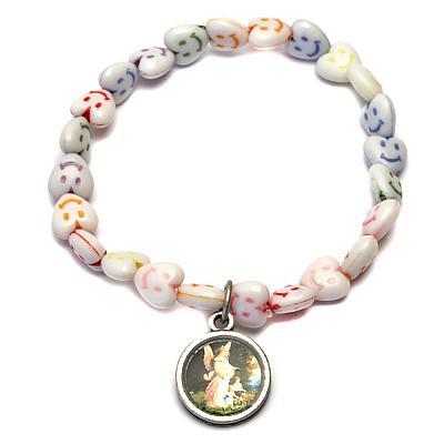 Kinder-Armband Herz-Smiley mit Schutzengel
