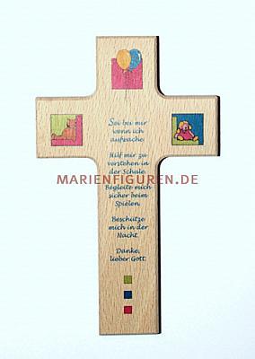 Kinderkreuz Bärchen mit Gebet
