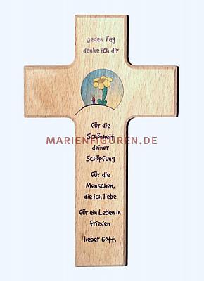Kinderkreuz Blume mit Gebet