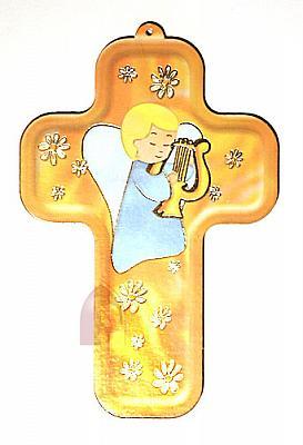 Kinderkreuz Engel mit Harfe
