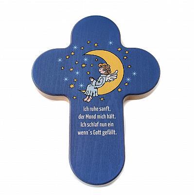 Kinderkreuz Mond 'Ich ruhe sanft...'