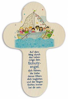 Kinderkreuz Kinder im Boot auf dem See