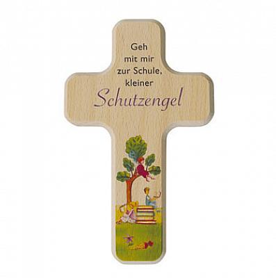 Kinderkreuz 'Mein Schutzengel geht mit mir zur Schule'