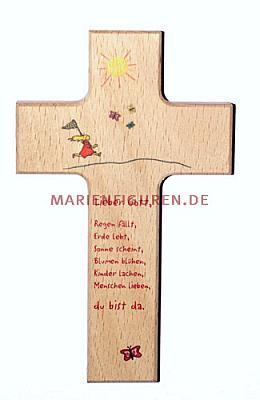 Kinderkreuz Sonne und Spruch