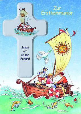Kinderkreuz zur Kommunion 'Jesus ist unser Freund'
