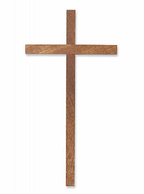 Schlichtes Sterbekreuz, Holz braun