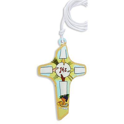 Kreuz JHS mit weißem Band