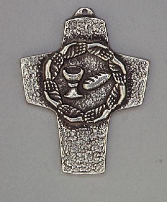 Kommunionkreuz 'Brot und Wein', Metall