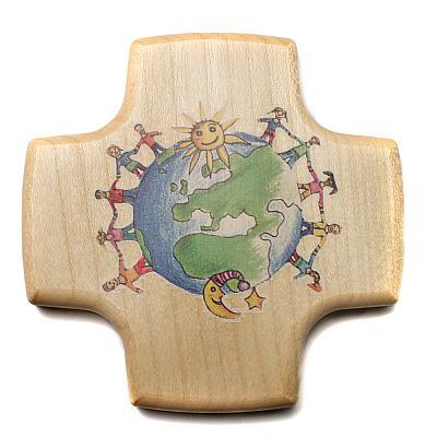 Kommunionskreuz Kinder der Welt