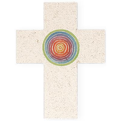 Kreuz aus Naturstein, Spirale des Lebens