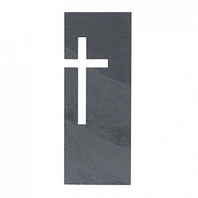 Kreuz aus Schiefer invers