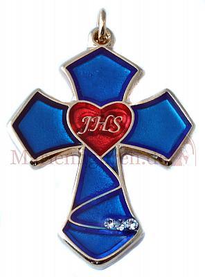 Kreuz Emaille Herz