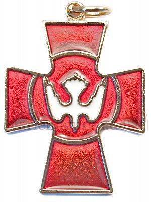 Kreuz Emaille Taube