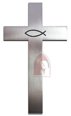 Kreuz 'Fisch' aus Stahl