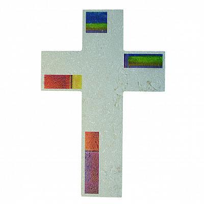 Kreuz 'Göttlicher Regenbogen des Friedens', Stein