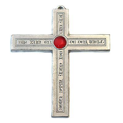 Zinnkreuz 'Ich bin bei Euch', rot