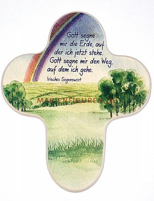 Kreuz 'Irische Landschaft' mit irischem Segenspruch