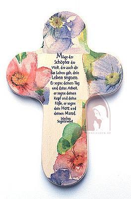 Kreuz, Irischer Haussegen, Blumen