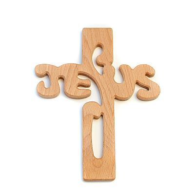 Kreuz 'Jesus', Holz