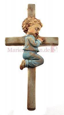 Kreuz Junge kniend (Blau)