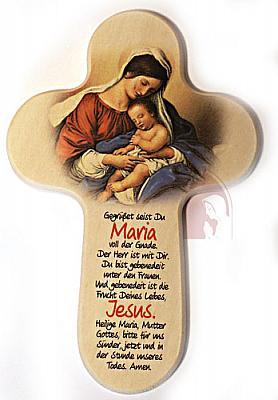 Kreuz 'Gegrüßet seist Du Maria', Maria mit Kind