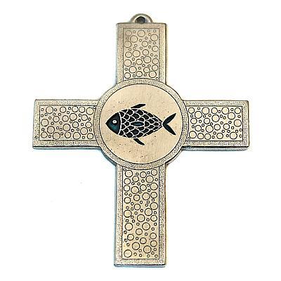Kreuz aus Zinn 'Fisch'