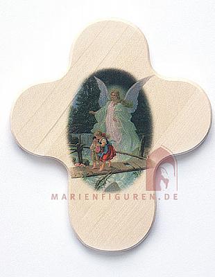 Kreuz Schutzengel mit Kinder über Brücke