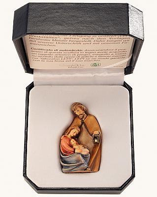 Krippe 'Heilige Familie' im Etui, Holz