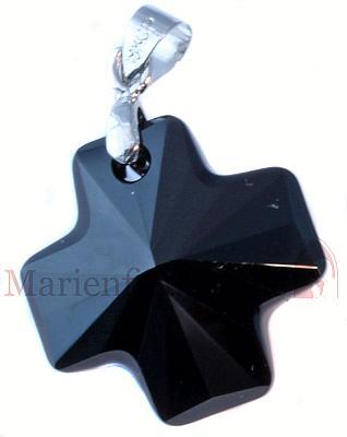 Kristallkreuz jet (schwarz)