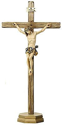 Stehkruzifix Alpenchristus, Holz