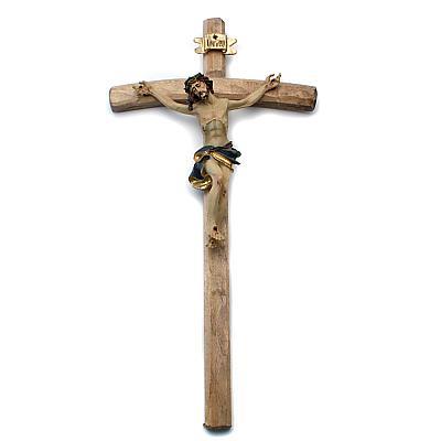 Kruzifix Alpenchristus II, Holz und Polyresin